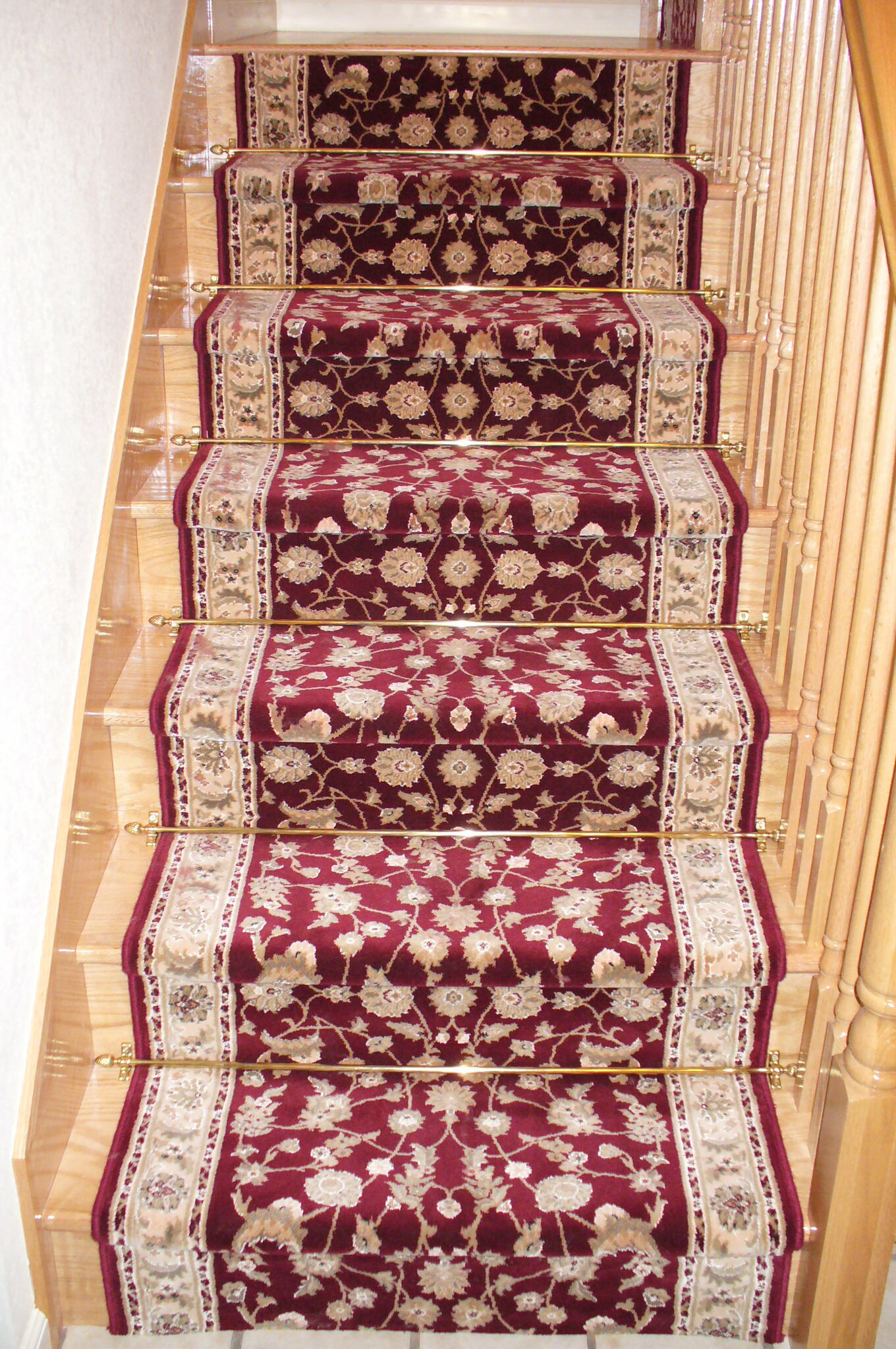 Carpeting on staircase